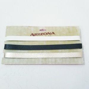 Arizona Jean Co Set of Chokers Black White Gold D2